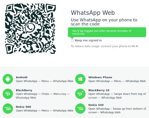WhatsApp Web Passo 1